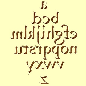 calligraphy. round-hand for left handed scribes. jpg.img.
