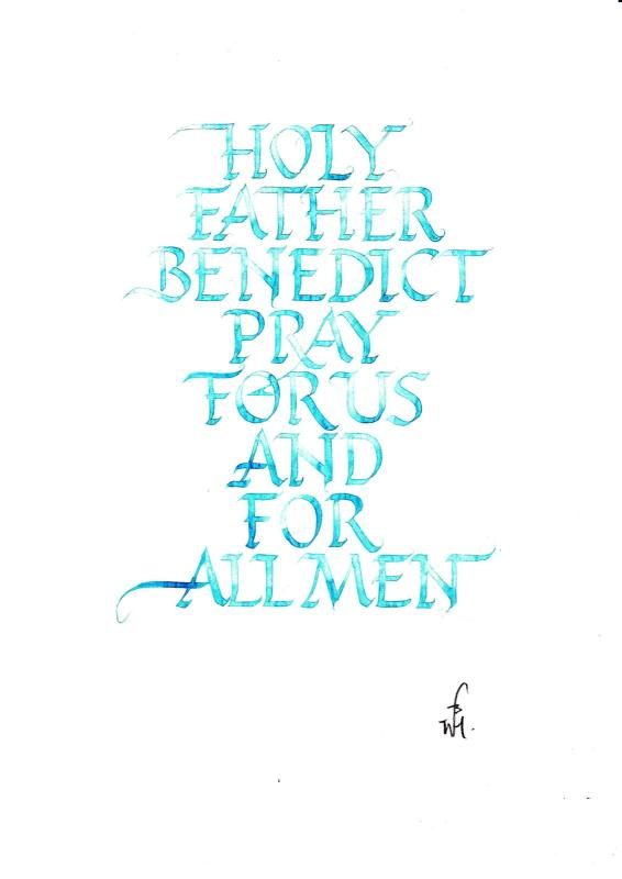 Holy Father Benedict, Calligraphy, Roman capitals, img,jpg