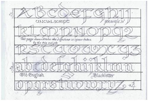 Uncial & Blackletter