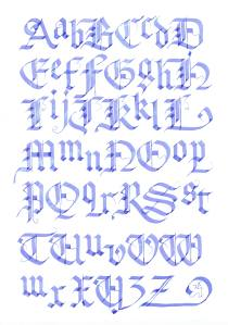 Blackletter scan