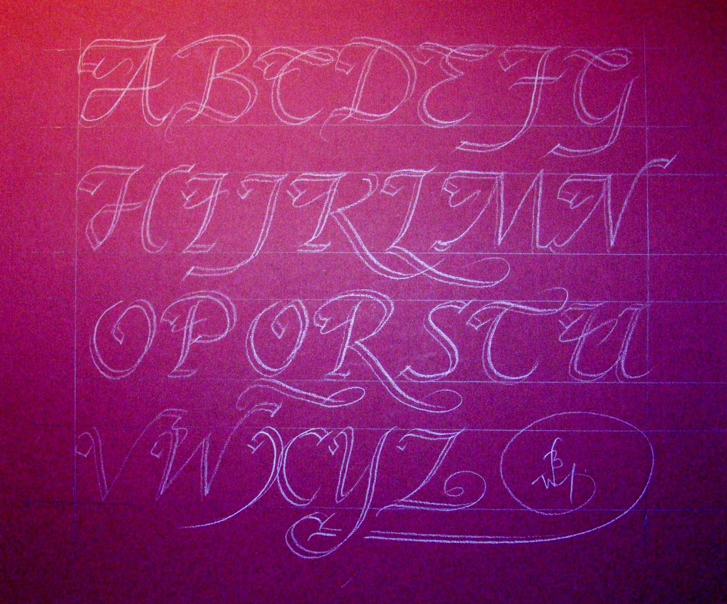 Calligradoodles 0006 How To Write Italic Swash Capitals