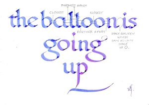 Balloon.calligraphy spacing guide.Calligraphy Workshops Luton.Wardown park Museum. img.jpg