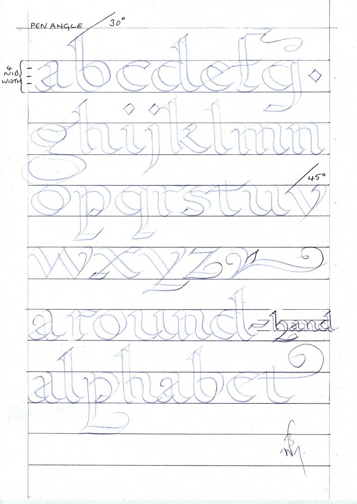 Calligraphy and handwriting for Children (3/4)
