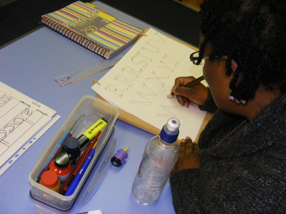 Luton Calligraphy Workshops. Week 2 (2/6)