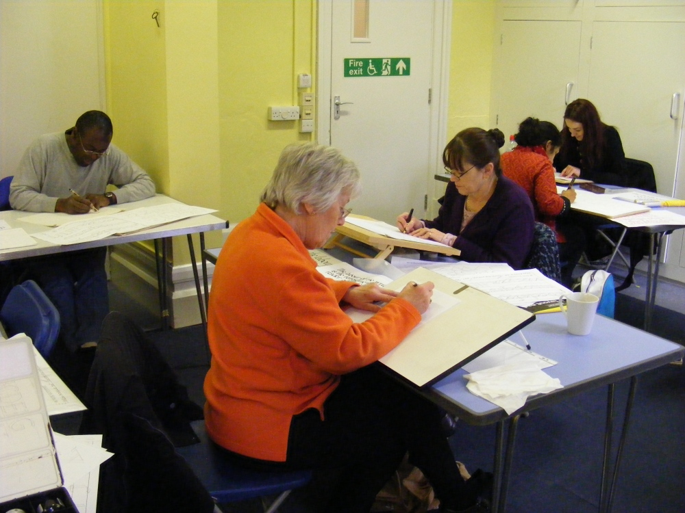 Luton Calligraphy Workshops. Week 2 (1/6)
