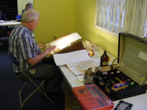 Luton Calligraphy Workshops. Week 4. Light Table. img.jpg.