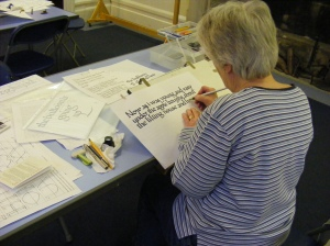Luton Calligraphy Workshops. Week 4. Coming on Nicely. img jpg.