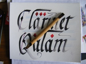 Bamboo / Reed pen. Clarinet qalam. img. jpg