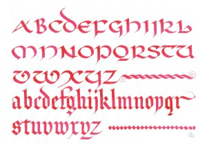 Uncial & Blackletter script. img.jpg
