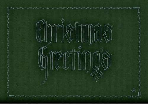 Christmas Greetings Green