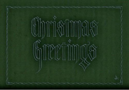 Christmas Greetings Green