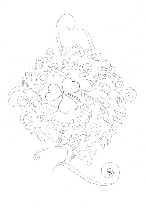 calligraphy,spiral,gaelic,happy st patrick's day,jpg,img