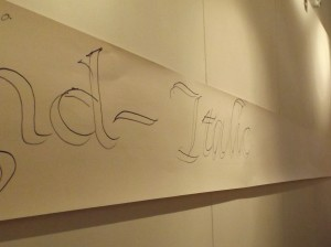 Italic script